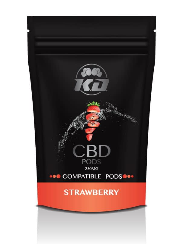 Compatible strawberry CBD Pods 250mg