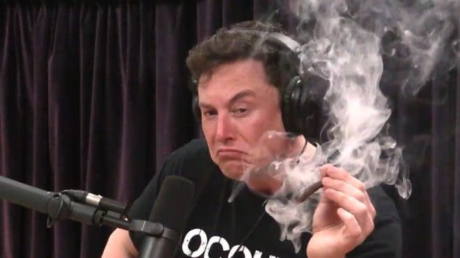 Elon Musk has smoked marijuana